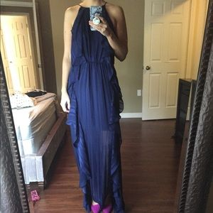 NEW NWT Halston Royal Blue Maxi Gown Size 8